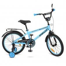 Детский двухколесный велосипед Forward Profi 18 дюймов, T1874 голубой