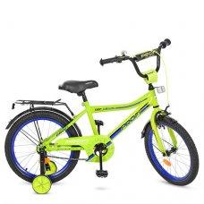 Детский двухколесный велосипед Top Grade Profi 18 дюймов, Y18102 салатовый