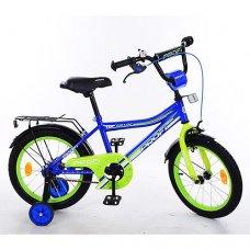 Детский двухколесный велосипед Top Grade Profi 18 дюймов, Y18103 синий