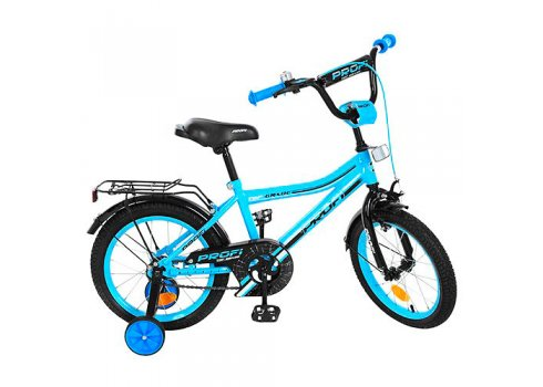 Детский двухколесный велосипед Top Grade Profi 18 дюймов, Y18104 бирюзовый