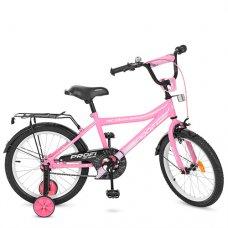 Детский двухколесный велосипед Top Grade Profi 18 дюймов, Y18106 розовый