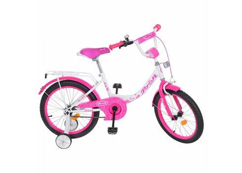Детский двухколесный велосипед Princess Profi 18 дюймов, Y1814 бело-малиновый