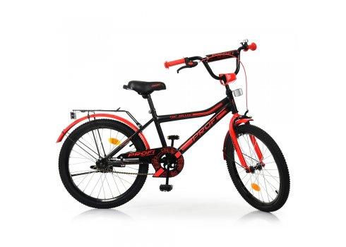 Детский двухколесный велосипед Profi Top Grade 20 дюймов, Y20107 черно-красный матовый
