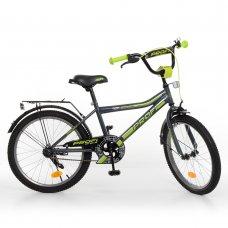 Детский двухколесный велосипед Profi Top Grade 20 дюймов, Y20108 графитово-салатовый матовый