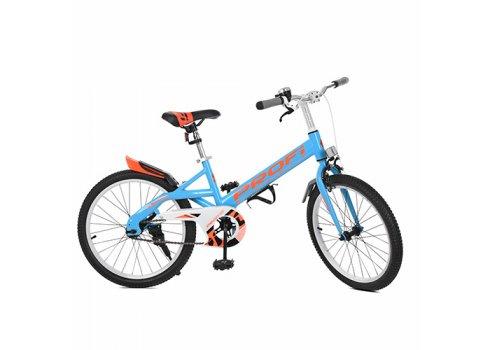 Детский двухколесный велосипед Original Profi 20 дюймов, W20115-2 синий