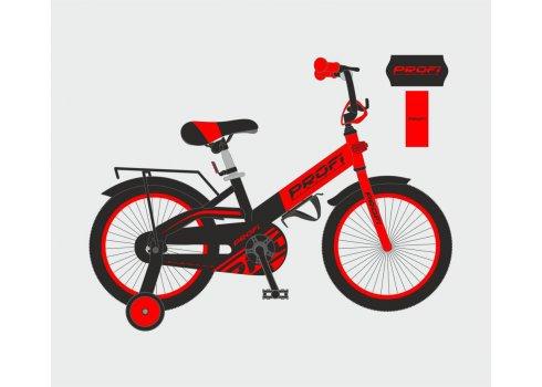 Детский двухколесный велосипед Profi Original 20 дюймов, W20115-5 красно-черный матовый