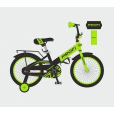 Детский двухколесный велосипед Profi Original 20 дюймов, W20115-6 зелено-черный матовый