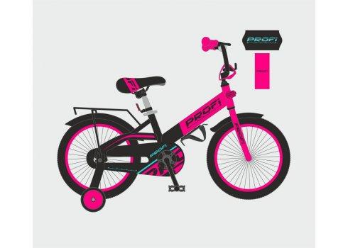 Детский двухколесный велосипед Profi Original 20 дюймов, W20115-7 розово-черный матовый