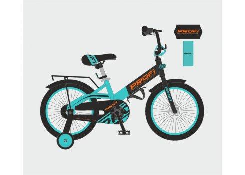 Детский двухколесный велосипед Profi Original 20 дюймов, W20115-8 черно-бирюзовый матовый