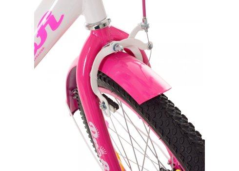 Детский двухколесный велосипед Profi Princess 20 дюймов XD2014 бело-малиновый