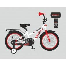 Детский двухколесный велосипед Profi Space 20 дюймов, T20154 бело-красный