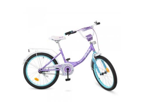 Детский двухколесный велосипед Profi Princess 20 дюймов Y2015 сиренево-мятный