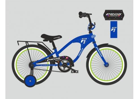 Детский двухколесный велосипед Profi Traveler 20 дюймов, Y20182 синий