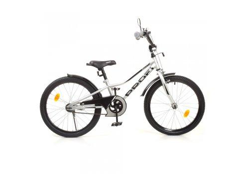 Детский двухколесный велосипед 20 дюймов PROFI Prime Y20222-1 металлик