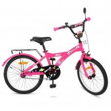Детский двухколесный велосипед Profi Original girl 20 дюймов, T2062 малиновый