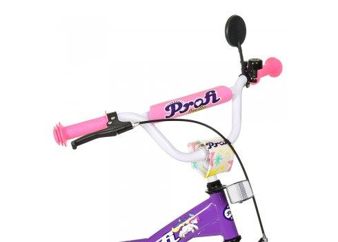 Детский двухколесный велосипед Profi Original girl 20 дюймов T2063 фиолетово-розовый