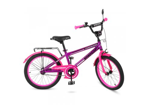 Детский двухколесный велосипед Profi Forward 20 дюймов, T2077 фиолетово-розовый