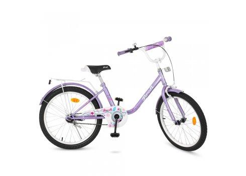 Детский двухколесный велосипед Profi Flower 20 дюймов Y2083 фиолетовый