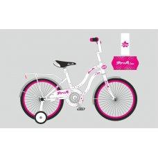 Детский двухколесный велосипед Profi Star 20 дюймов, Y2094 бело-малиновый