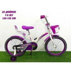 Детский двухколесный велосипед Crosser Kids Bike 20 дюймов фиолетовый