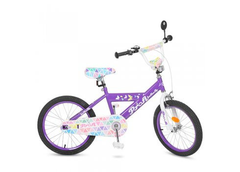 Детский двухколесный велосипед Butterfly 2 Profi 20 дюймов, L20132 сиреневый