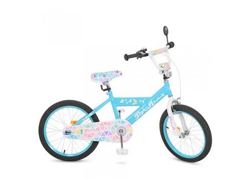 Детский двухколесный велосипед Butterfly 2 Profi 20 дюймов, L20133 голубой