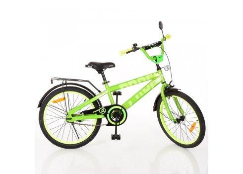 Детский двухколесный велосипед Flash Profi 20 дюймов, T20173 салатовый