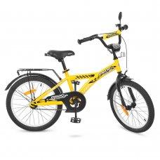 Детский двухколесный велосипед Racer Profi 20 дюймов, T2032 желтый