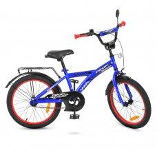 Детский двухколесный велосипед Racer Profi 20 дюймов, T2033 синий