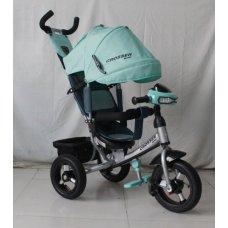 Трехколесный велосипед Crosser one T1 бирюзовый на надувных колесах
