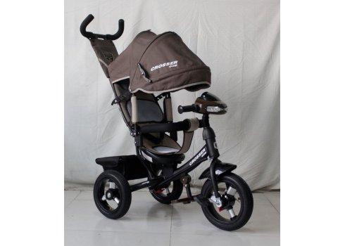 Трехколесный велосипед Crosser one T1 шоколад на надувных колесах