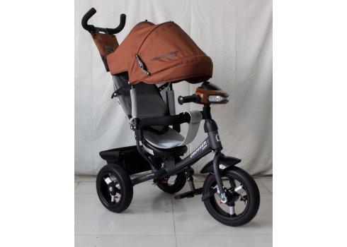 Трехколесный велосипед Crosser one T1 коричневый на надувных колесах