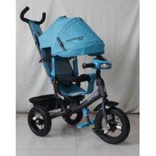 Трехколесный велосипед Crosser one T1 лазурный на надувных колесах