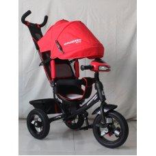 Трехколесный велосипед Crosser one T1 красный на надувных колесах