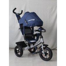 Трехколесный велосипед Crosser one T1 синий на надувных колесах