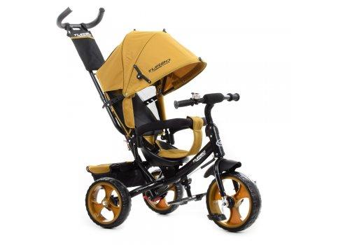 Детский трехколесный велосипед с ручкой TURBOTRIKE M 3113-24 горчичный