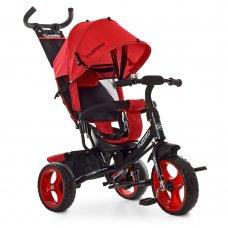 Детский трехколесный велосипед с ручкой TURBOTRIKE M 3113-3L красный
