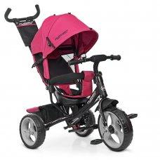 Детский трехколесный велосипед с ручкой TURBOTRIKE М 3113-6 розовый