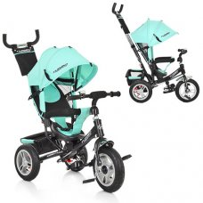 Трехколесный велосипед колясочного типа на надувных колесах Turbotrike M 3113A-15 бирюза
