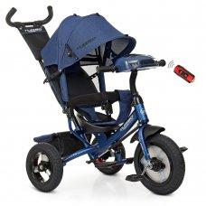 Трехколесный велосипед с фарой TURBOTRIKE M 3115HA-11L темно-синий