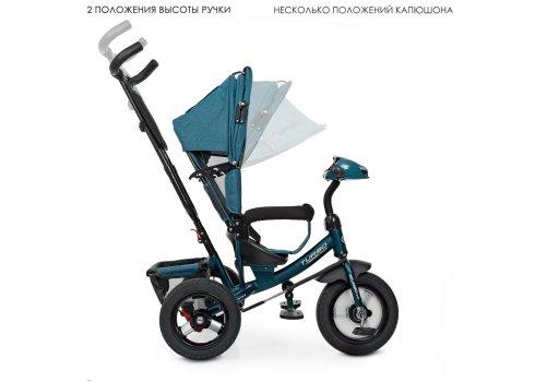 Трехколесный велосипед с фарой TURBOTRIKE M 3115HA-21L изумруд