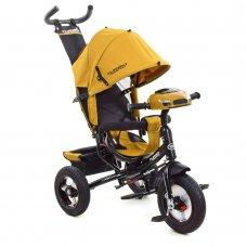 Трехколесный велосипед с фарой TURBOTRIKE M 3115HA-24 горчичный