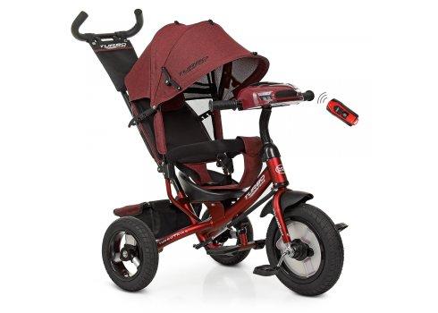 Трехколесный велосипед с фарой TURBOTRIKE M 3115HA-3L красный