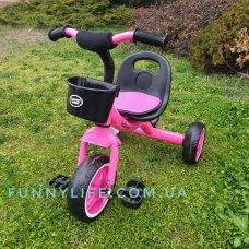 Трехколесный велосипед на EVA колесах, Turbotrike M 3197-M-2 малиновый