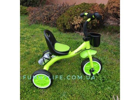 Трехколесный велосипед на EVA колесах Turbotrike M 3197-M-2 зеленый