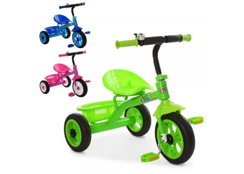 Детский трехколесный велосипед Profi Kids M 3252-B синий и зеленый