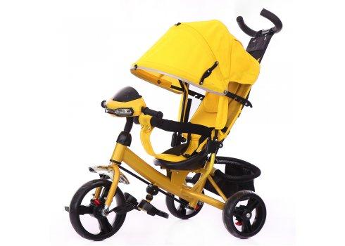 Велосипед трехколесный с игровой панелью, Tilly Trike T-347 Жёлтый