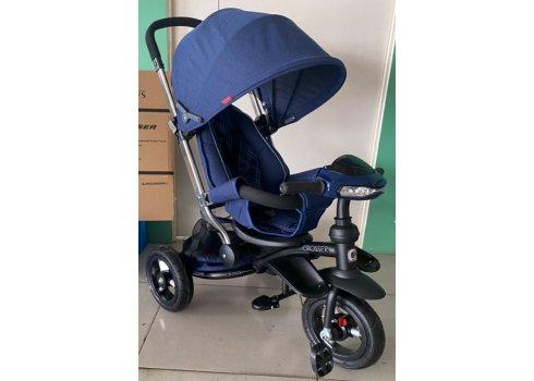 Трехколесный велосипед-коляска Crosser T350 Eco new синий