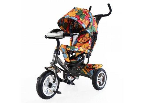 Велосипед трехколесный с игровой панелью, Tilly Trike T-351-7 графитовый