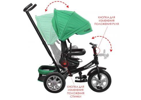 Трехколесный велосипед с поворотным сиденьем на надувных колесах, M 3646A-4 зеленый